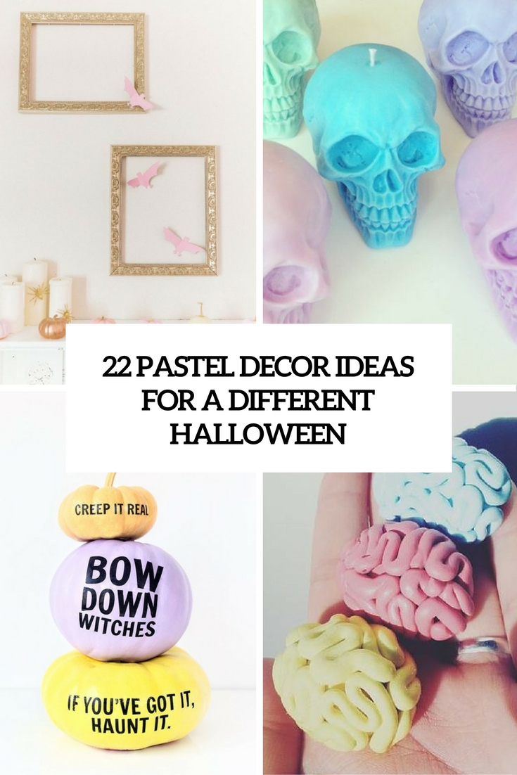 pastel decor ideas for a different halloween cover