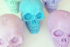pastel skull halloween decor
