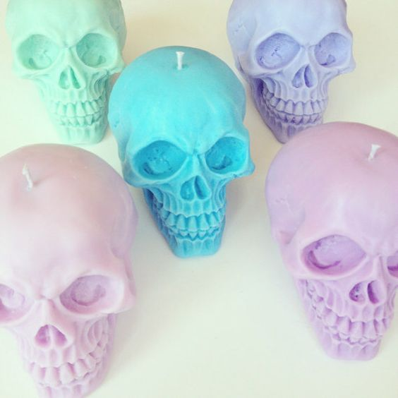 pastel skull candles will create a mood