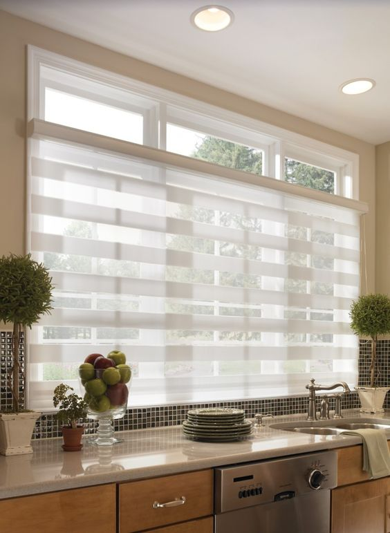 sheer horizontal kitchen blinds screen