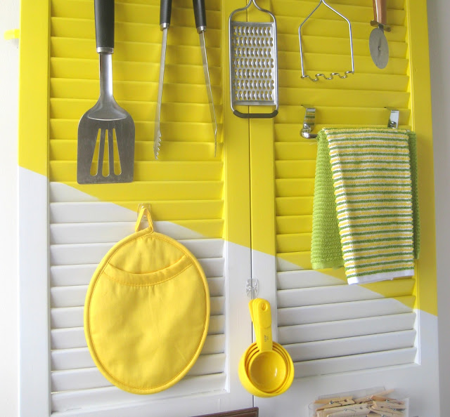 use old bifold doors for vertical storage