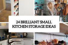 24 brilliant small kitchen storage ideas cover