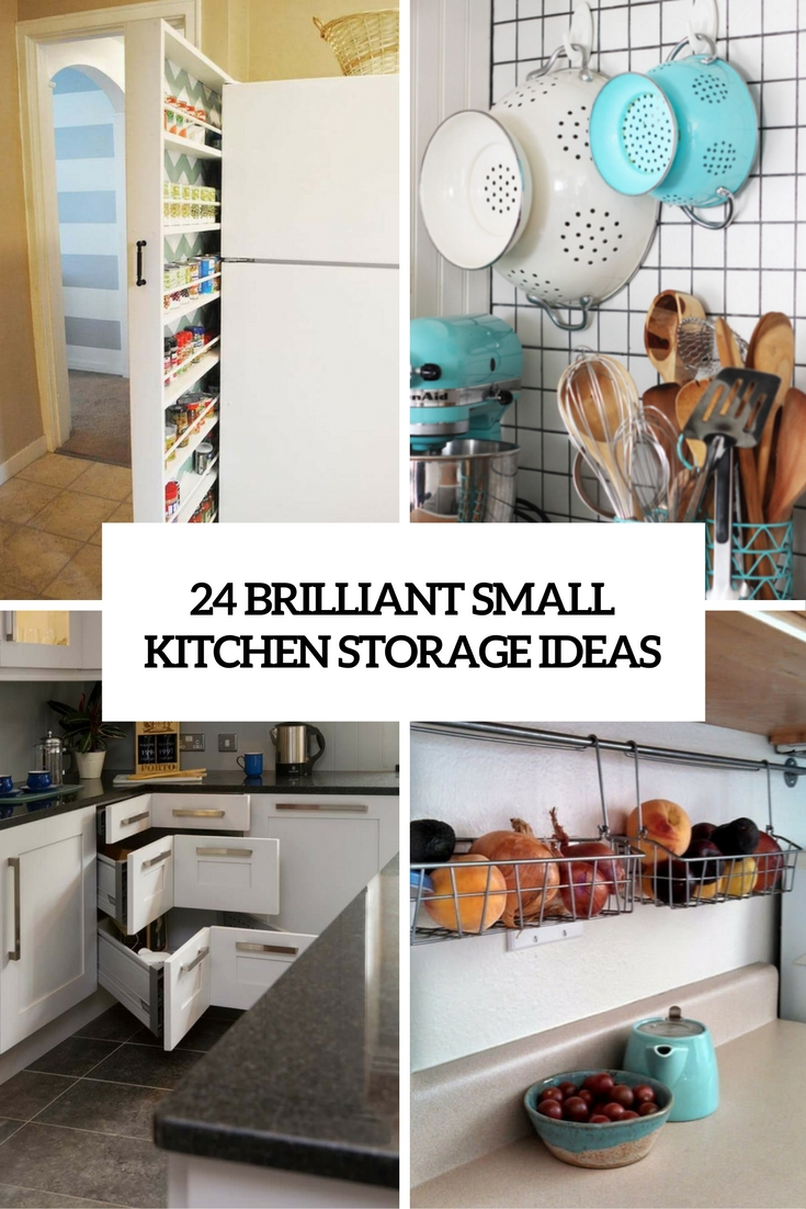 24 creative small kitchen storage ideas shelterness for Kitchen organization ideas small spaces