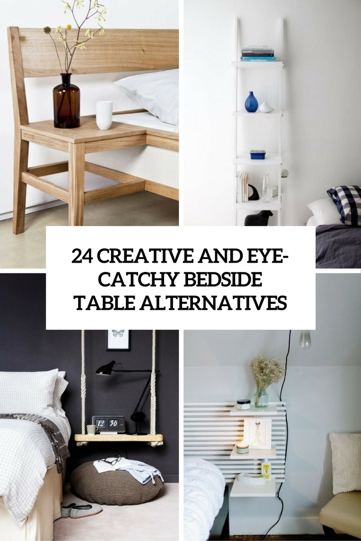 24 Creative And Eye-Catchy Bedside Table Alternatives