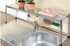 24 get an over-the-sink shelf to double-up on counter space