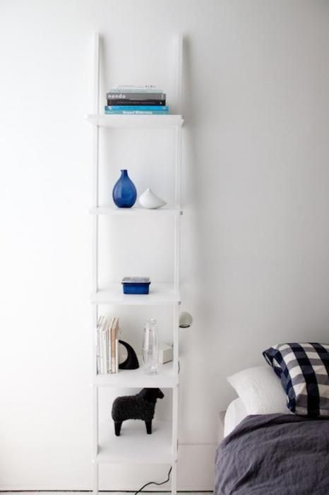 tall ladder works as a multi shelf