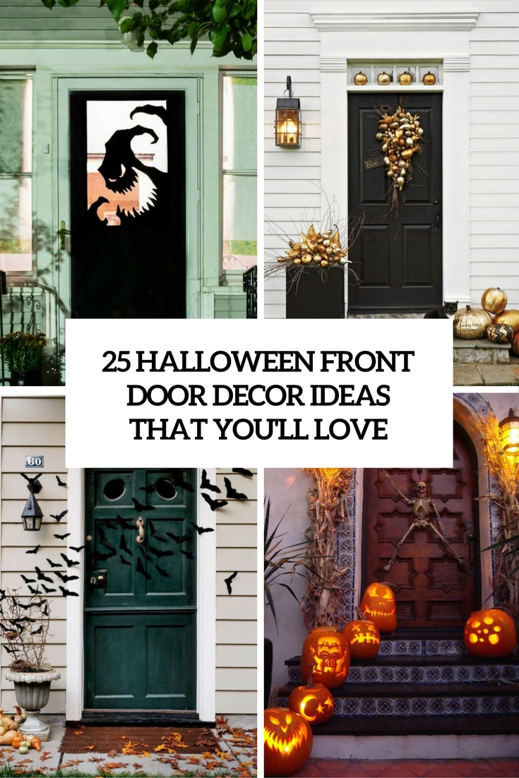 25 Halloween Front Door Décorations That You ll Love