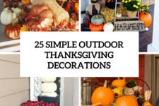 25 simple outdoor thanksgiving decorations cover