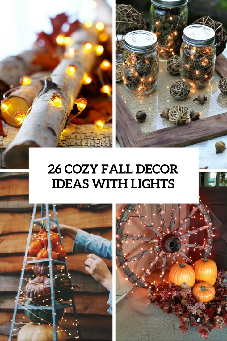 cozy fall decor ideas with lights cover
