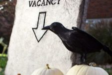 26 put this tombstone in your garden, add a couple of pumpkins and a raven