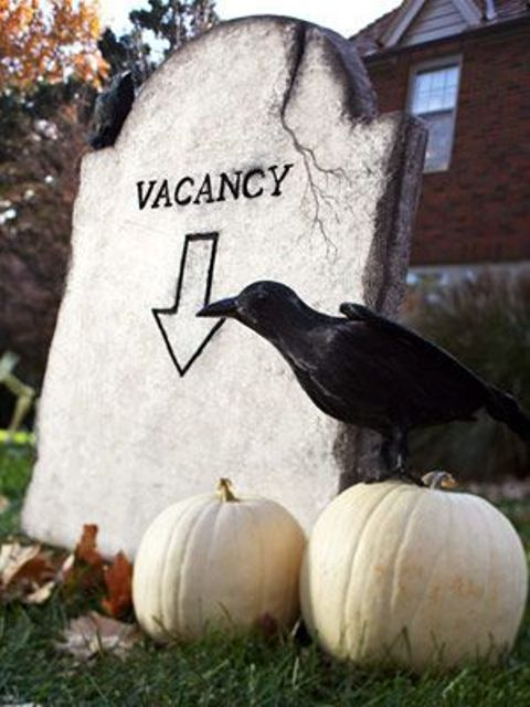 put this tombstone in your garden, add a couple of pumpkins and a raven