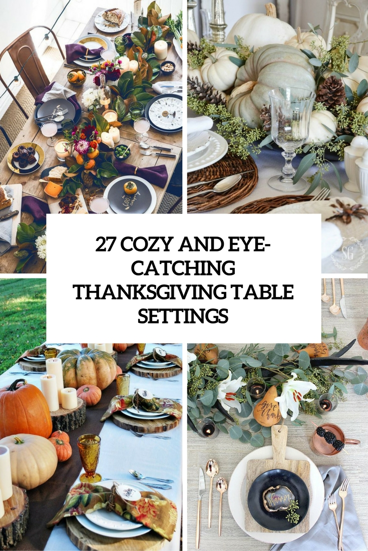 cozy and eye catching thanksgiving table settings cover  sc 1 st  Shelterness & 27 Cozy And Eye-Catching Thanksgiving Table Settings - Shelterness