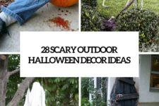28 scary outdoor halloween decor ideas cover