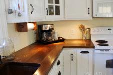 DIY wide plank kitchen countertops