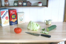 DIY butcher block kitchen countertop