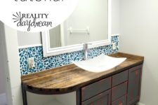 DIY butcher block bathroom counter