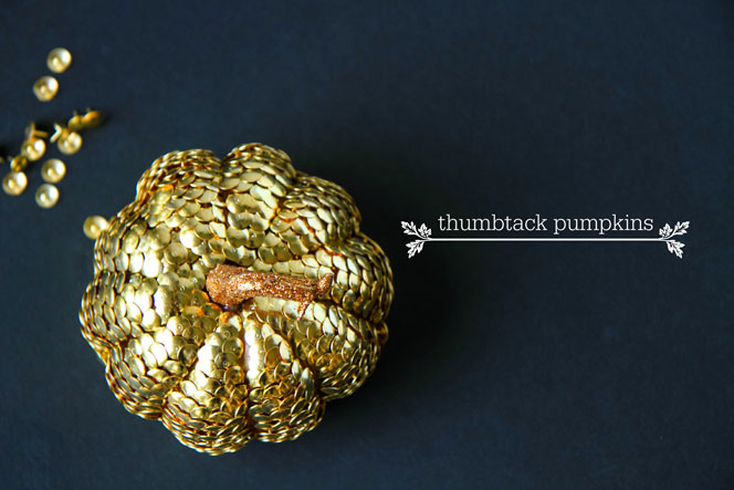 DIY decorative thumbtack dollar store pumpkins (via inspiration.kenmore.com)
