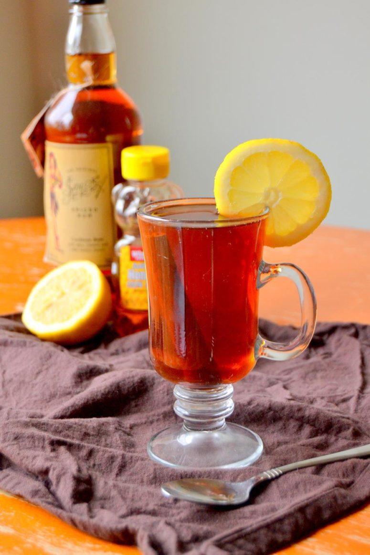 DIY black tea with rum for adults (via www.tattooedmartha.com)