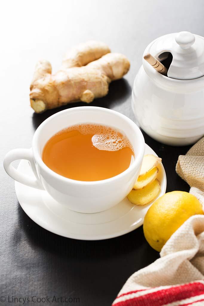 DIY ginger tea tonic with honey and lemon (via www.lincyscookart.com)