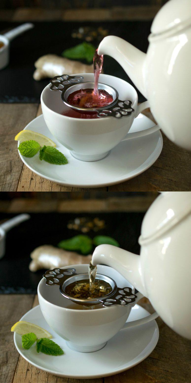 DIY loose leaf tea turned into healing tea (via culinaryginger.com)