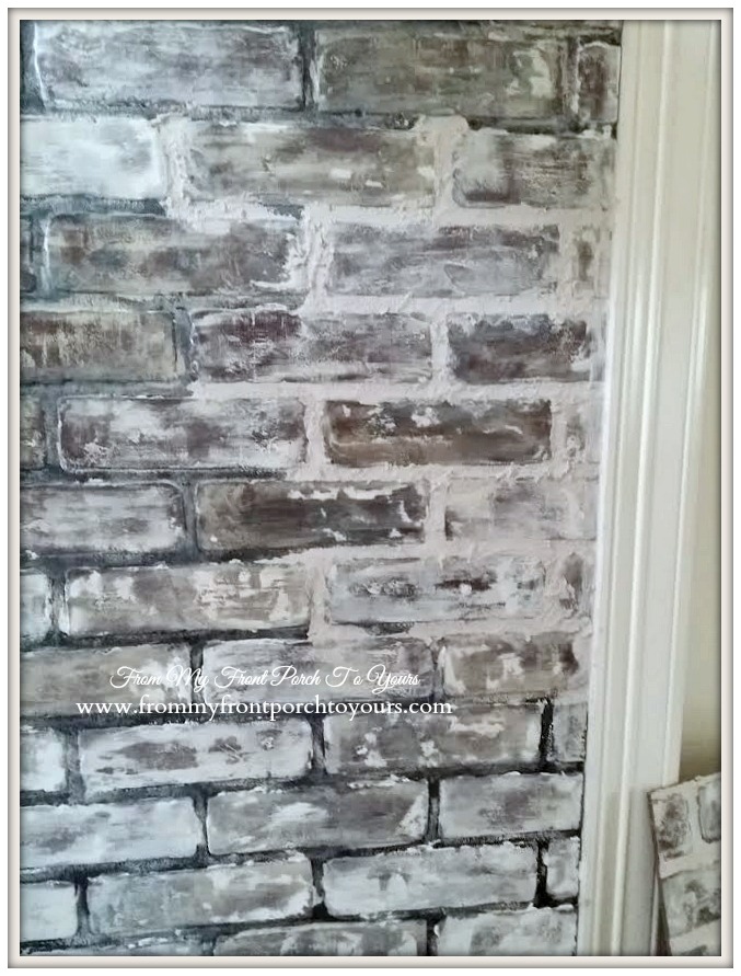 DIY Faux Brick Wall Panels Using Chalk Paint For An Older Look (via Www.