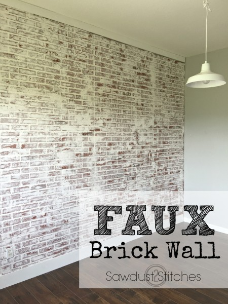 Diy Faux Brick Walls Using Paneling And White Paint Via Sawdust2sches