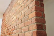 DIY real brick wall
