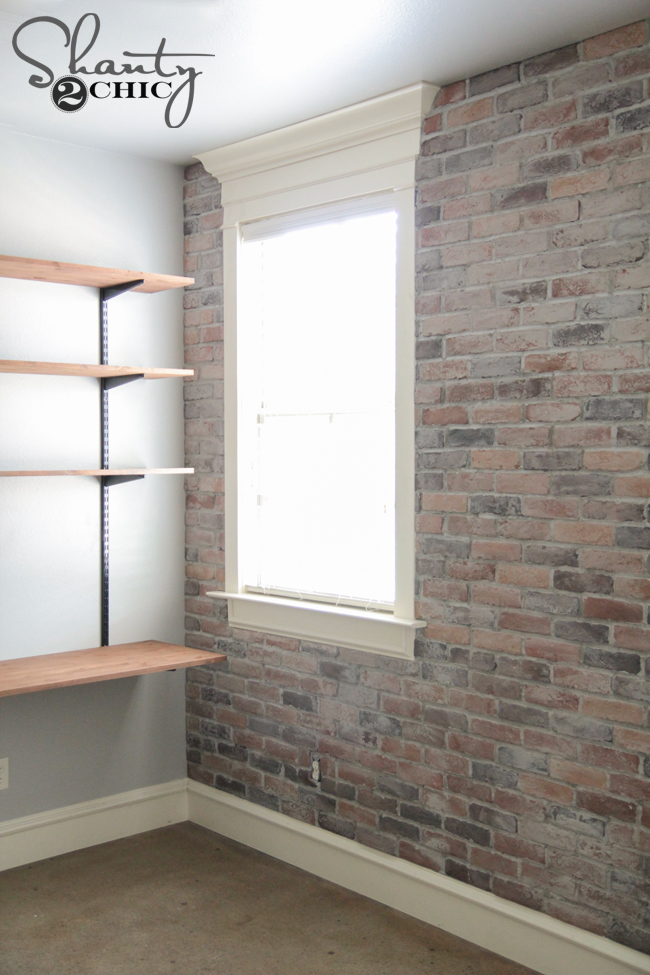 how to make a faux finish brick wall