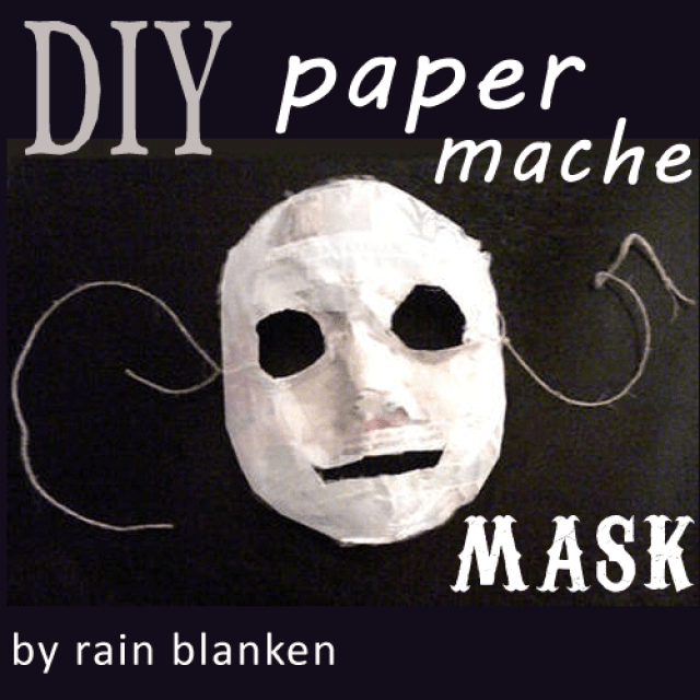 DIY simple paper mache mask to be painted (via diyfashion.about.com)