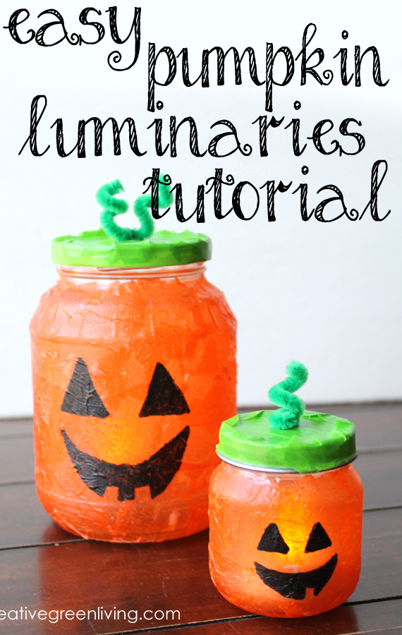 DIY jack-o-lantern luminaries  (via www.creativegreenliving.com)