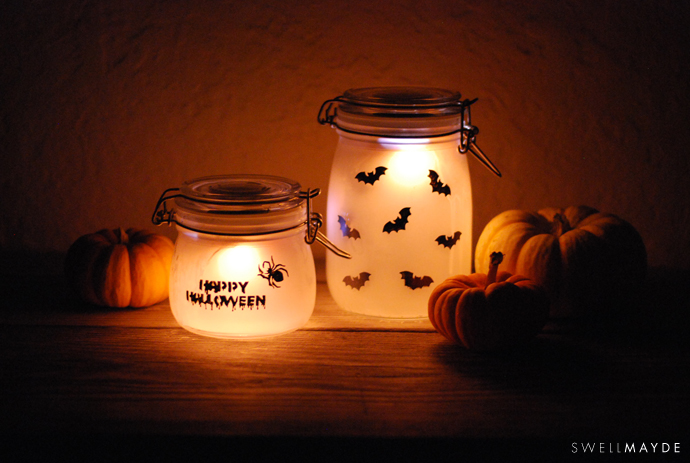 DIY stenciled luminaries for Halloween (via www.swellmayde.com)