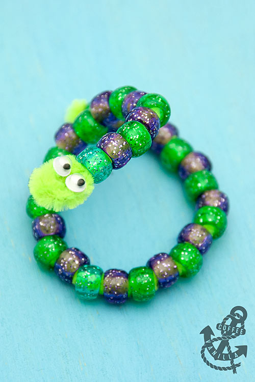 DIY pipe cleaner and bead snakes