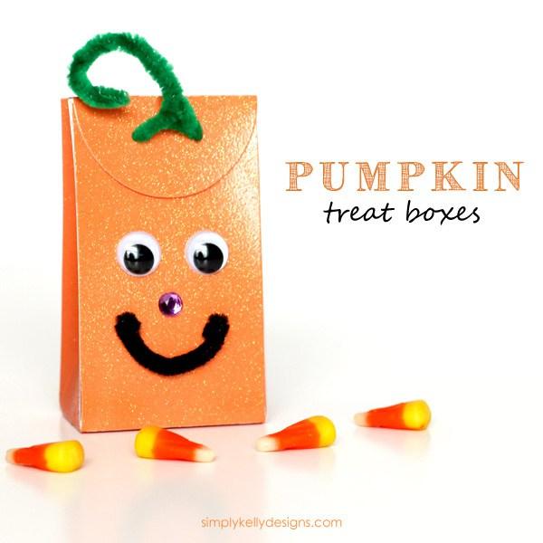 DIY pumpkin treat boxes inspired by pumpkins