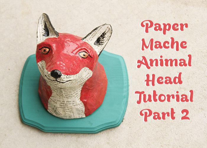 funny painted DIY fox head  (via asharperfocusblog.com)