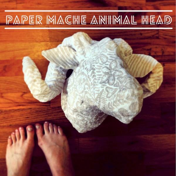 DIY faux sheep head of paper mache (via www.starsforstreetlights.com)