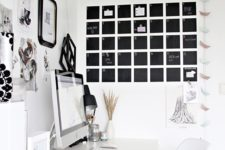 DIY chalkboard paint from powdered grout and latex paint