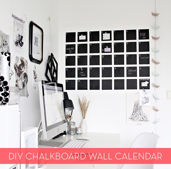 DIY chalkboard paint from powdered grout and latex paint (via www.lifehack.org)