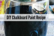 DIY chalkboard paint of paints and grout