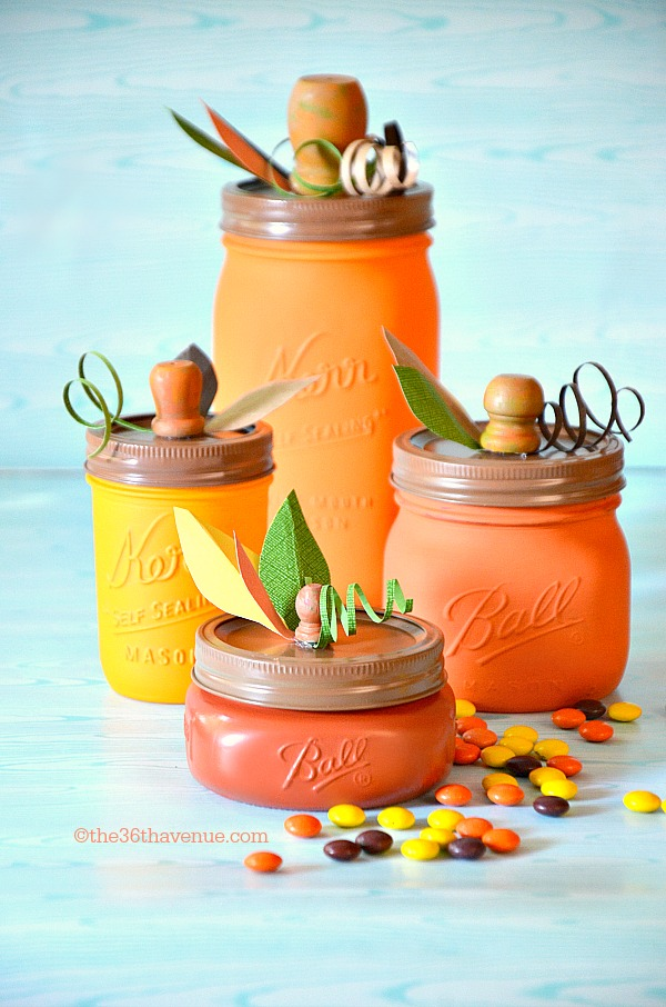 DIY pumpkin mason jars (via www.the36thavenue.com)