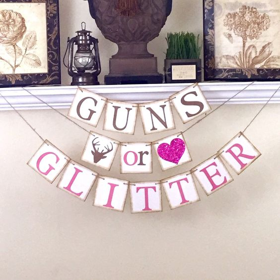 baby shower banner for gender revealing