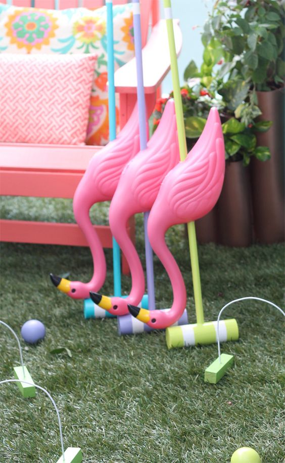 Alice In Wonderland Croquet Set For Outdoor Games