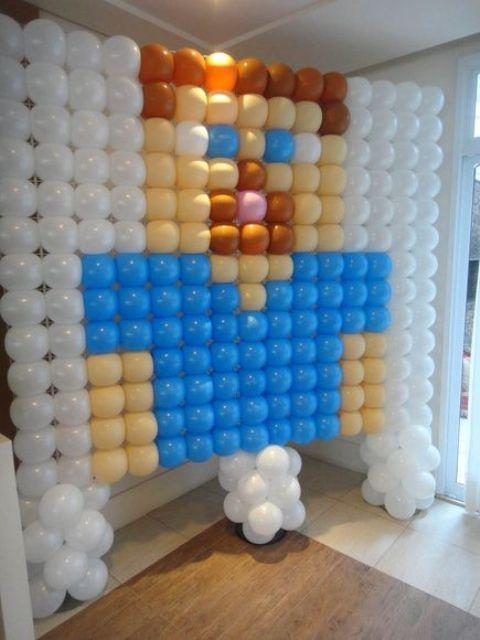 Minecraft balloon installation