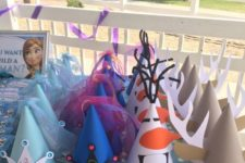 04 Frozen party hats for kids