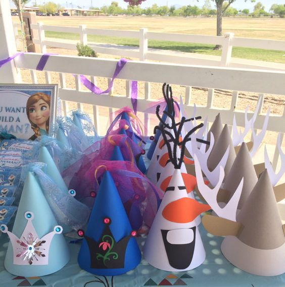 Frozen party hats for kids