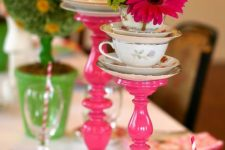 04 candlestick decor for Alice In Wonderland parties