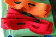 04 fabric masks for kids can be easily cutout by you