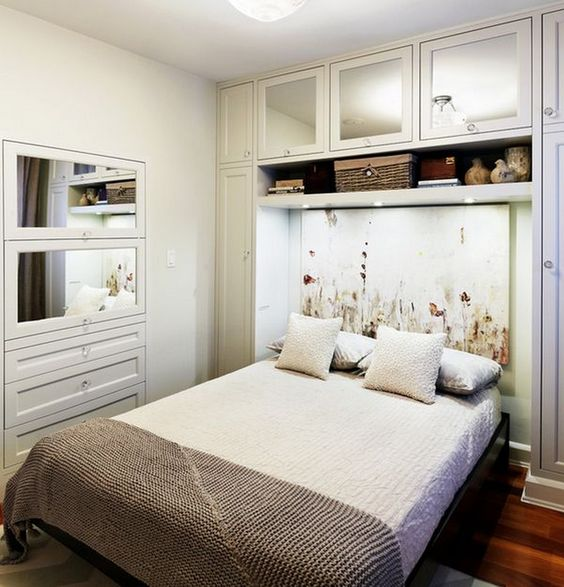 In Wall Storage Compartments And Built In Storage Around The Bed