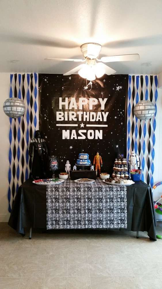 Birthday Dessert Table In Black