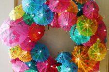 05 bold cocktail umbrella wreath