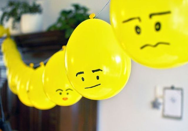 lego balloon garland for a birthday party